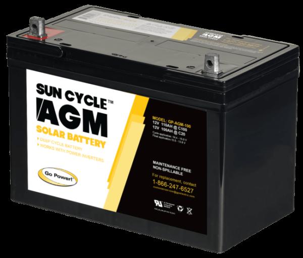 100Ah AGM 12v solar battery