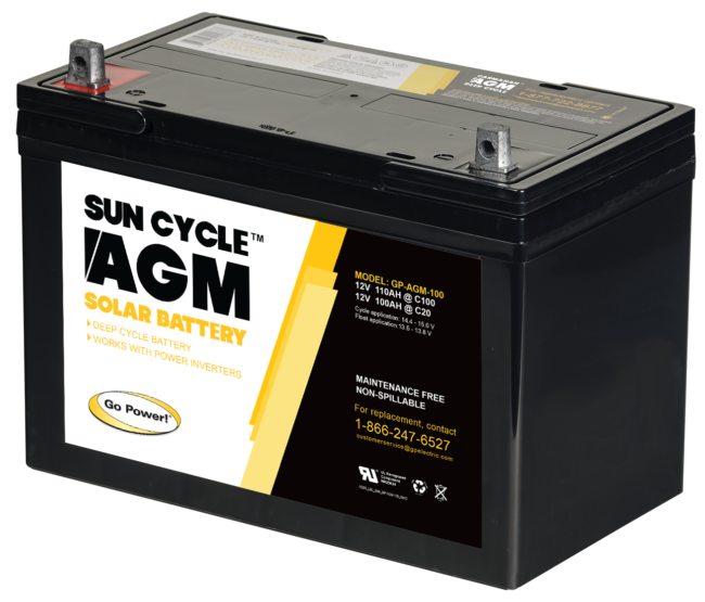 100Ah AGM 12v solar battery