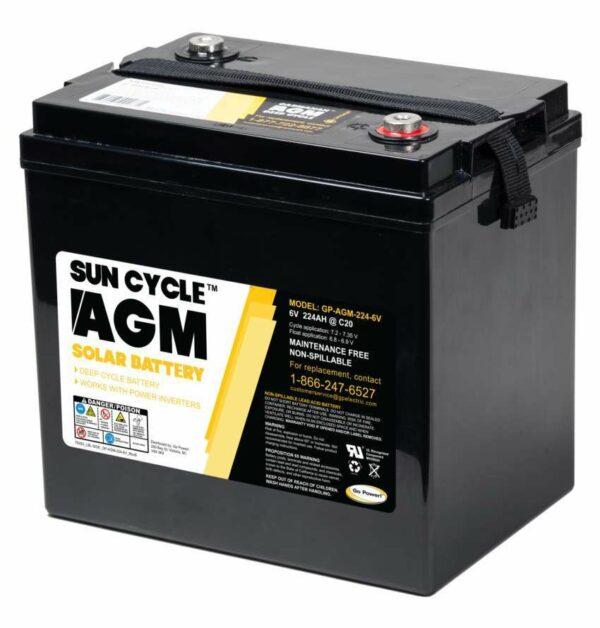 224 AGM 6v battery