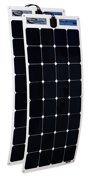 200 watt flexible panels (2 x 100 watt panels)
