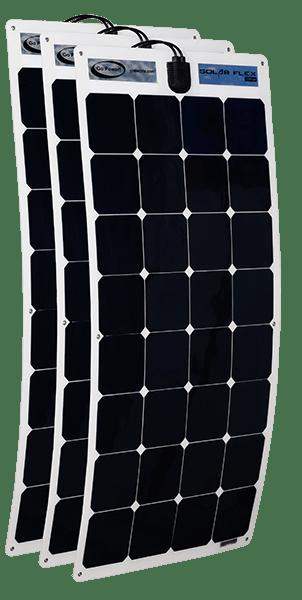 300 watt flex panels (3 x 100 watt panels)