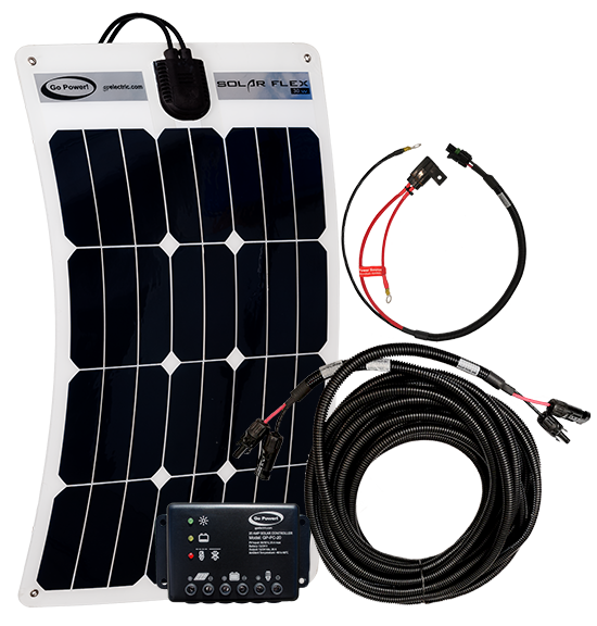 Fleet 30 watt solar kit components